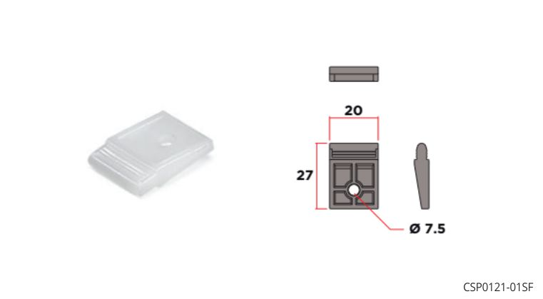 """Plate for fixing """"Catenaria"""" profile to worktop"""