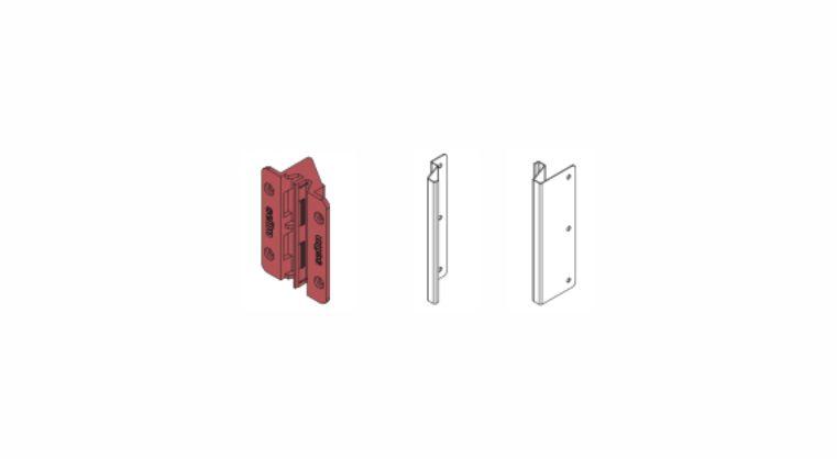 Fixing brackets for vertical GOLA U